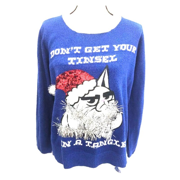 Grumpy Cat Ugly Christmas Sweater.Grumpy Cat Ugly Christmas Sweater Xl Nwt